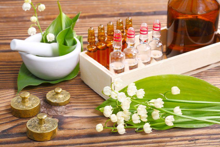Mortar & Pestle, Pills, Amber Bottles, White Tray