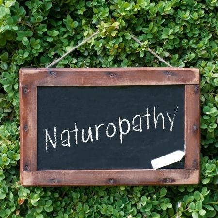 Naturopathy Sign on Blackboard